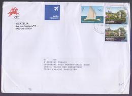 Apicultura Flores, SHIP Barcos Do Mediterraneo, Postal History Big Cover From PORTUGAL, Used 14.1.2020 - 1910-... République