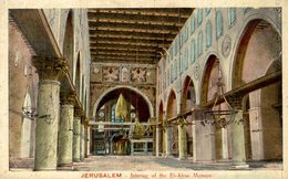 JERUSALEM INTERIOR OF TJE EL AKSA MOSQUE - Israel