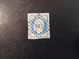 FRANCE YT14A NAPOLEON III, EMPIRE.FRANC 20c.bleu Type I Losange PC 97 - 1853-1860 Napoleon III