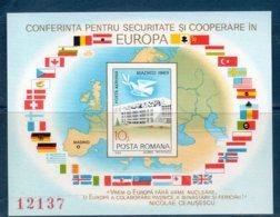 Romania 1983 --CONFERENZA SULLA SICUREZZA  BF196 --   **MNH - 1948-.... Republics