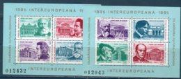 """Romania 1985 --INTEREUROPA""""COMPOSITORI""""  BF212/213 --   **MNH - 1948-.... Republics"""