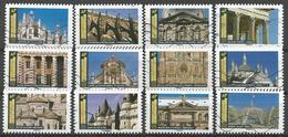"""Série Complète """"Histoire De Styles - Architecture"""" - Oblitérations Diverses - Adhésifs (autocollants)"""