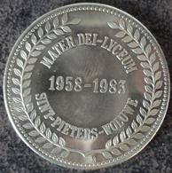 4062 Vz Mater Dei Lyceum 1958-1983 Sint-Pieters-Woluwe - Kz 25 Jaar Materdei - Gemeentepenningen
