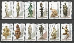 """Série Complète """"Le Nu Dans L'art"""" - Oblitérations Diverses - Adhésifs (autocollants)"""