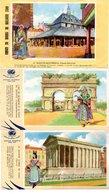 Lot De 6 Buvards - Illustrations Biscottes Grégoire. Montréjeau, Saintes, Nîmes, Langeais, Beaune, Montmajour. - Biscottes