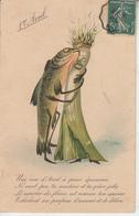 1er AVRIL - Poisson Poireau - Animali Abbigliati