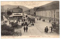 GERARDMER (88) - Place De La Gare - TRAMWAY - BELLE ANIMATION - Ed. Ad. Weick, Saint Dié - Gerardmer