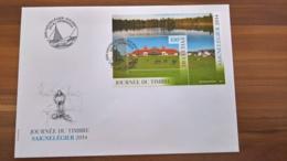 Schweiz, FDC Tag Der Briefmarke, Journée Du Timbre Saignelégier 2014 - Blocks & Kleinbögen