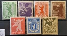 BERLIN 1945 - MNH - Mi 1-7 - Amerikaanse-en Britse Zone