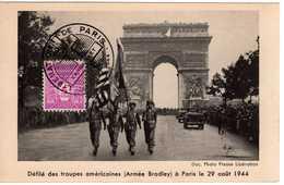 Carte Maximum Avec N°620 Arc De Triomphe Oblitérée Libération De Paris 1944  Cote Yvert : D1  40E - Maximum Cards