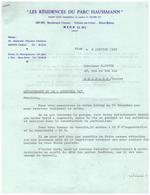 1962 - Nice (Alpes-Maritimes) - Les Résidences Du Parc Haussmann Au 105 Bd Carnot - FRANCO DE PORT - Francia