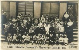 """6476 """" ASILO INFANTILE BONOMELLI-MOYEUVRE GRANDE 1925"""" - FOTOCARTOLINA ORIGINALE - Anonieme Personen"""