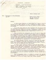 1961 - Nice (Alpes-Maritimes) - Pierre Jensen Architecte Au 6 Rue Eden - FRANCO DE PORT - Francia