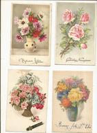 CPA, Lot De 36 Cartes Fantaisies Florales - Fantaisies