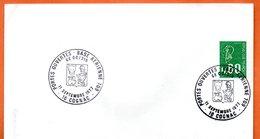 16 COGNAC  BASE AERIENNE 709   1977 Lettre Entière N° CD 105 - Marcophilie (Lettres)