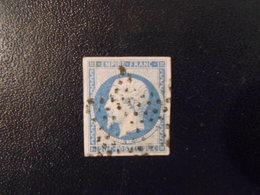 FRANCE YT14A NAPOLEON III, EMPIRE.FRANC 20c.bleu Type I étoile De Paris - 1853-1860 Napoleon III