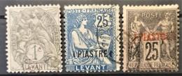 LEVANT - Canceled - YT 1, 5, 9 - Oblitérés