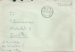 """Feldpost Brief  """"Sion Caserne"""" - Zürich        Ca. 1950 - Svizzera"""