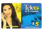 SURINAME (SURINAM) - TELE G  (GSM RECHARGE) - FAREISA JOEMMANBAKS: MISS INDIA WORLDWIDE      - USED - RIF. 2043 - Surinam