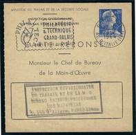 France - Thématique Marianne De Muller - 0,20 Bleu CP1 - Entier Postal Carte Réponse - TB - - Standard Postcards & Stamped On Demand (before 1995)