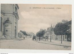 60 CHANTILLY RUE CONNETABLE L EGLISE CPA BON ETAT - Chantilly