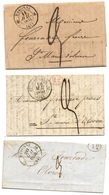 Cachets De Bayonne (type 12 Et 13) Sur Lettres Pour Oloron Avec Ou Sans Décime Rural Tcf Scans) - Poststempel (Briefe)