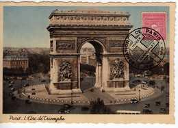 Carte Maximum Avec N°625  Arc  De Triomphe Oblitérée Libération De Paris 1944  Cote Yvert :  G1  50E - Maximum Cards