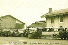 [82] Tarn Et Garonne > Castelsarrasin Autocars Dans La Cour De La Gare - Castelsarrasin