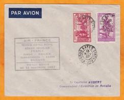 1937 - Enveloppe PAR AVION 1er Vol Postal Dakar Bamako Air France De  Kayes à Bamako - Au.j Mali - Brieven En Documenten