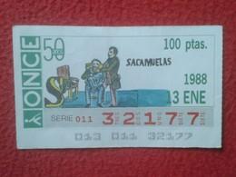 CUPÓN ONCE SPANISH LOTTERY CIEGOS SPAIN LOTERÍA ESPAÑA ESPAGNE 1988 SACAMUELAS DOCTOR DENTISTA DENTIST DENTISTE MEDICAL - Billetes De Lotería