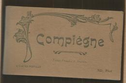 JC , Cp, 60 , COMPIEGNE , Ed. ND ,phot. , CARNET DE 12 CARTES POSTALES - Compiegne