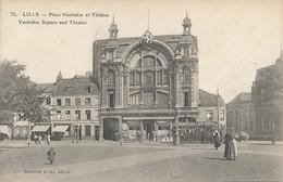 Lille ELD Cd 70 Place Vanhacker(sic) Et Theatre Rare état Neuf - Lille