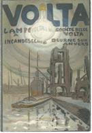 DEURNE SUD ANVERS - RARE CPA - Publicité Lampes VOLTA - Publicité