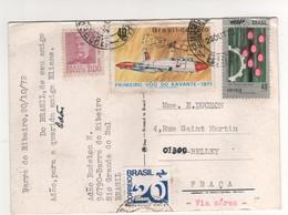 : Beaux Timbres , Stamps   Sur Cp , Carte , Postcard Du 20/10/72 Pour La France ( Plis D'angles ) - Brésil