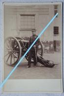Photo ABL Officier Artillerie Canon Artillery Gun Pre 1914 Belgische Leger Armée Belge Militaria - Anciennes (Av. 1900)