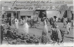 Cpa  Tunisie Tunis Place Bab Souika - Tunisia