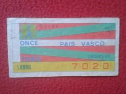 CUPÓN DE LA ONCE SPANISH LOTTERY LOTERIE SPAIN CIEGO BLIND LOTERÍA ESPAÑA REGIONES 1986 EUSKADI PAÍS VASCO EUSKAL HERRIA - Billetes De Lotería