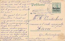 Lettre Belgique Mecheln 1916 Censure US Censor Geoffnet Examiner Censura War - Marcophilie (Lettres)