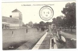 MARRAKECH - Cour Extérieure Du Palais De L' Aguadal - Ed. E. Michel - Marrakech