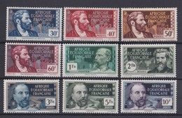 Afrique Equatoriale   Y&T  N° 41  43  45  57  59   60  61  80 Et 82    NEUF  **   Coté 12.10_euros - A.E.F. (1936-1958)