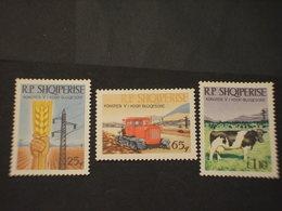 ALBANIA - 1968 AGRICOLTURA 3 VALORI - NUOVO(++) - Albania
