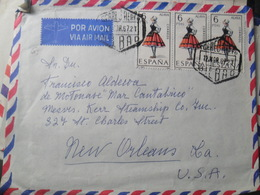 Francisco Aldecoa Mar Cantabrico Air Mail Bilbao - Poste Aérienne