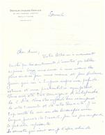 Vers 1960 - L.A.S De Jacques Servier Fondateur Des Laboratoire Du Même Nom - FRANCO DE PORT - Autographes
