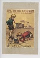 Les Deux Gosses F. Poulbot Illustrateur Film Fernand Rivers - Cp Double Expo Affiches Cinéma 1988 - Poulbot, F.