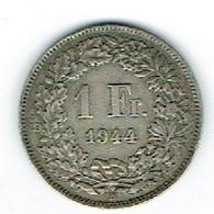 Suisse 1Fr Argent 1944 Belle - Schweiz
