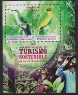 PERU, 2017, MNH, BIRDS, SUSTAINABLE TOURISM, MACHU PICCHU SANCTUARY, S/SHEET - Uccelli