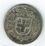 Suisse 5Fr Argent 1932 B Belle - Schweiz