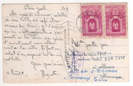 : Beaux Timbres , Stamps  Yvert N° 309 Sur Cp , Carte , Postcard Du 17/09/1948 + Griffe Violette SP 58481 BPM 517B - Monaco