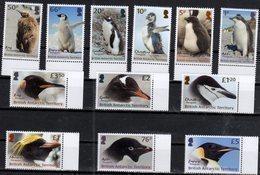 BRITISH ANTARCTIC TERRITORY, BAT,  2018, MNH, DEFINITIVES, BIRDS, PENGUINS, 12v - Pinguini