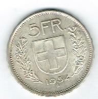 Suisse 5Fr Argent 1937 B TT Belle - Schweiz